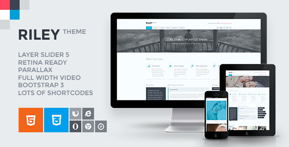 ThemeForest RILEY Responsive MultiPurpose HTML5 Template 7805604