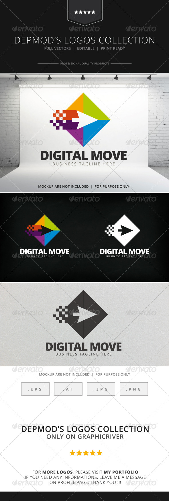 Digital Move Logo - Abstract Logo Templates
