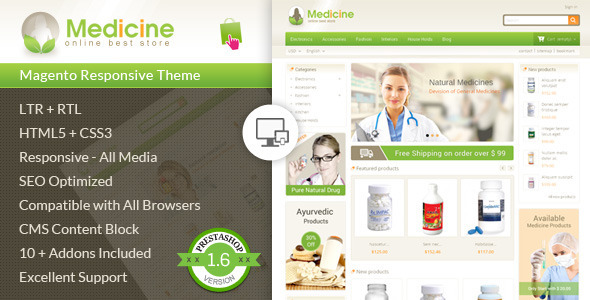 ThemeForest Medicine Pharmacy Prestashop Theme 7805622