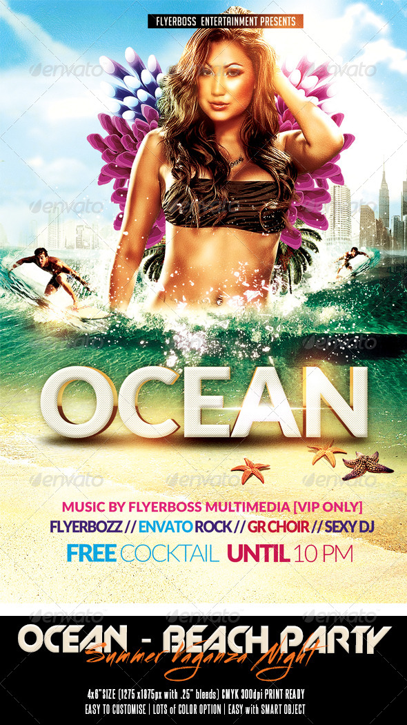 GraphicRiver The Ocean Summer Vaganza Flyer 7805649