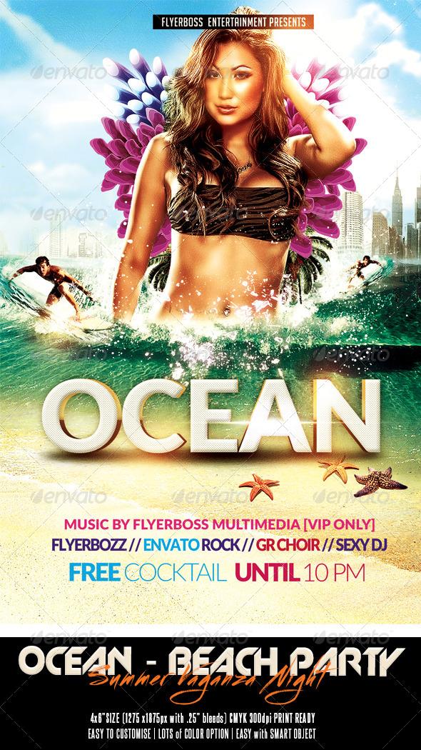The Ocean Summer Vaganza Flyer