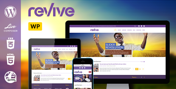 ThemeForest Revive Church Theme Powered by LiveComposer 7795884