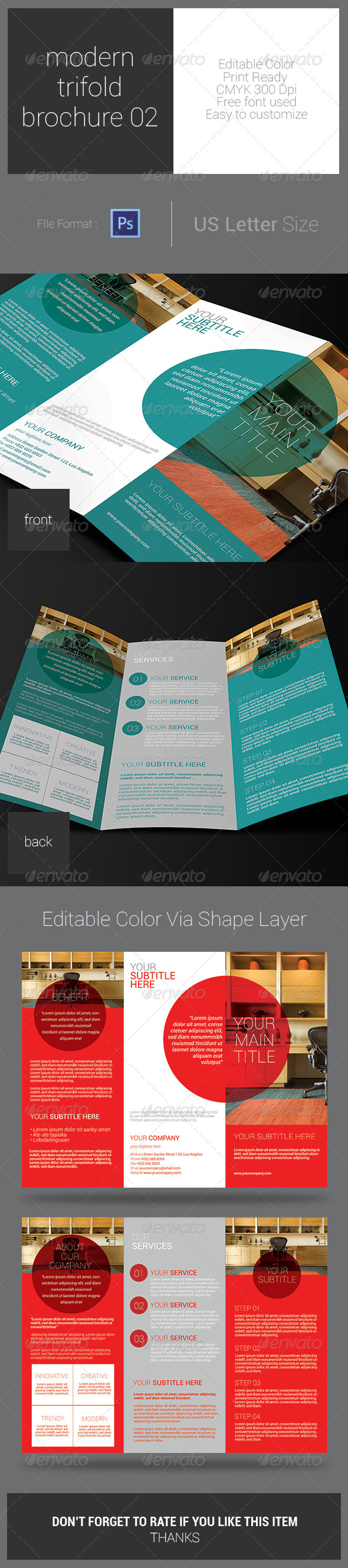 GraphicRiver Modern Trifold Brouchure 02 7805959