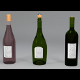 3 wine bottles 3D models - 3DOcean Item for Sale
