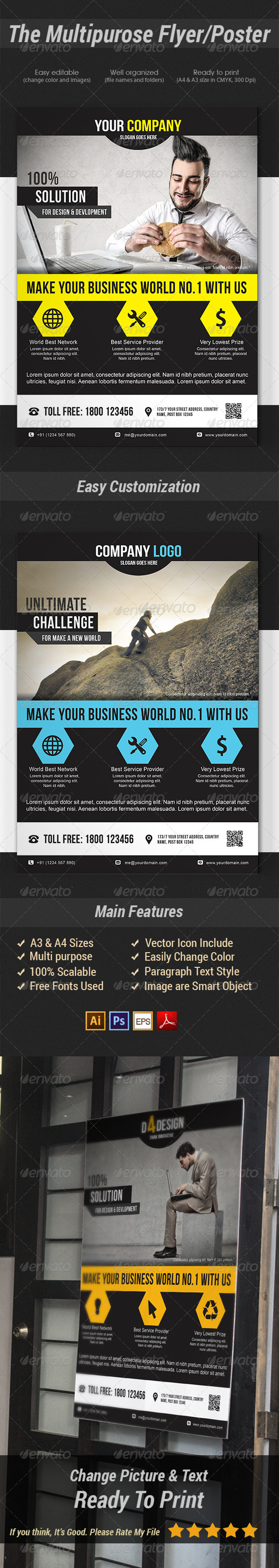 GraphicRiver The Multipurpose Flyer Poster 7776614