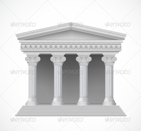 GraphicRiver Front View of an Antique Greek Temple 7806090