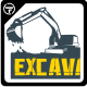 Excavator T-Shirts - GraphicRiver Item for Sale