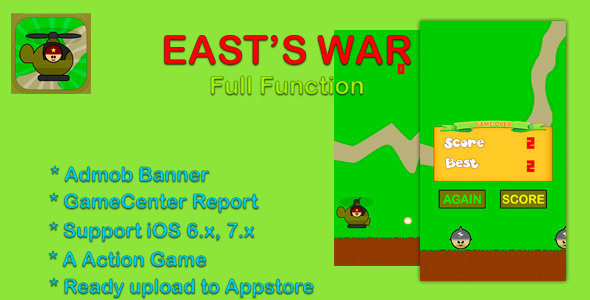 Download East's War - Cocos2d, Game Center, Admob nulled download