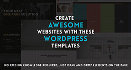 Wordpress Templates with Drag and Drop editing