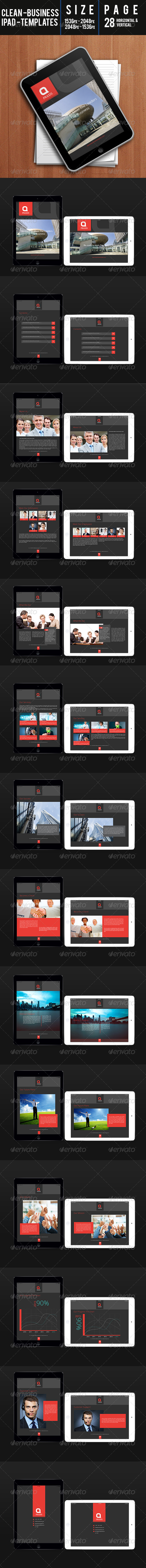 GraphicRiver Clean Business Ipad Templates 7806278