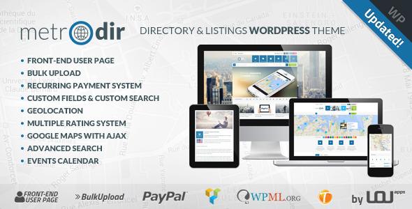 Metrodir - Directory & Listings WordPress Theme - Directory & Listings Corporate