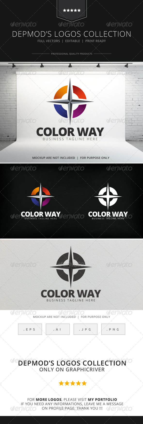Color Way Logo - Abstract Logo Templates