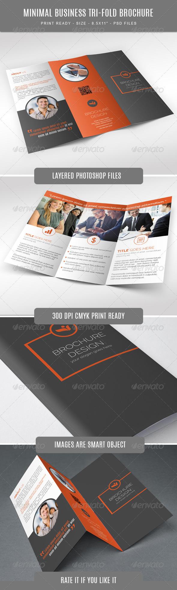 GraphicRiver Minimal Business Tri-Fold Brochure 7806448