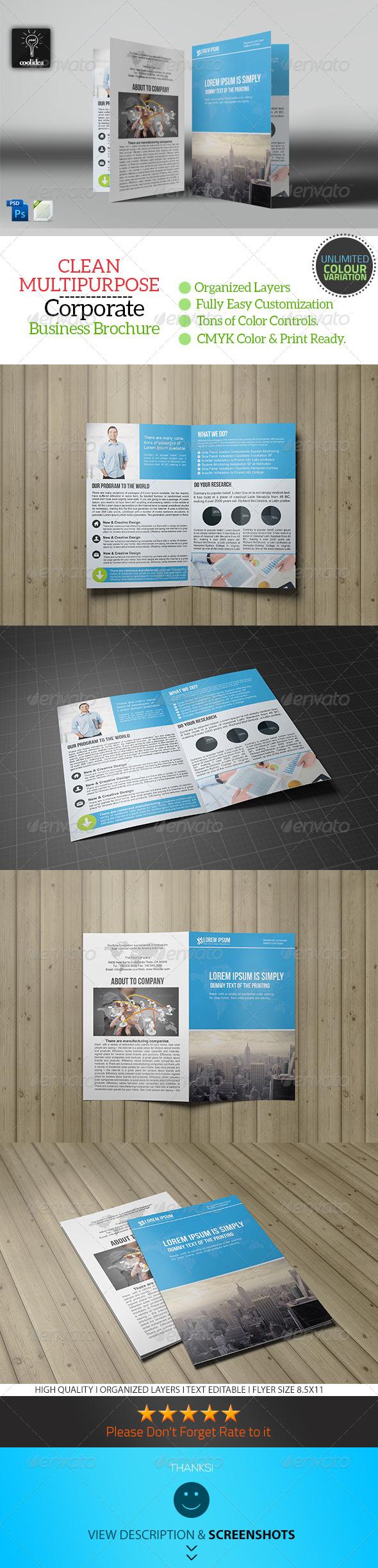 Bifold Business Brochure Template Vol03