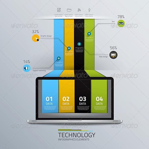 GraphicRiver This is the Technology Concept Infographic Template 7779502