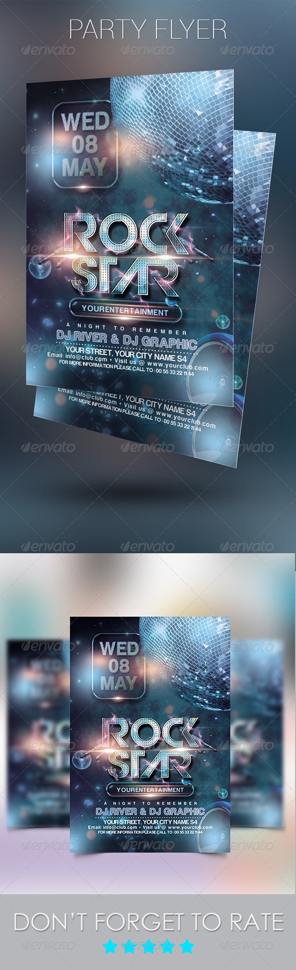 GraphicRiver Rock Star Party Flyer Template 7806561