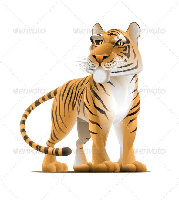 GraphicRiver Cartoon Tiger 7806707