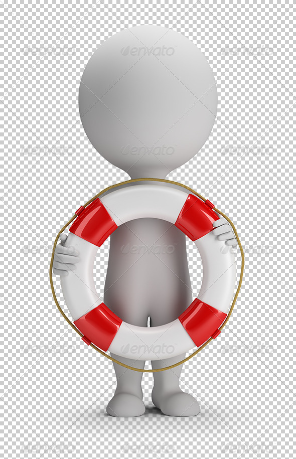 GraphicRiver 3D Small People Lifebuoy 7806857