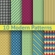 Different Modern Seamless Patterns