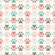 Animal Seamless Pattern of Paw Footprint - GraphicRiver Item for Sale
