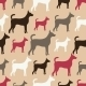 Seamless Dog Silhouettes - GraphicRiver Item for Sale