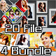 4 Photo Frame Template Bundle - GraphicRiver Item for Sale