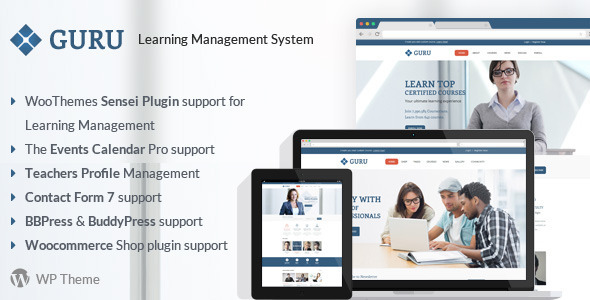 ThemeForest Guru Learning Management WordPress Theme 7807232