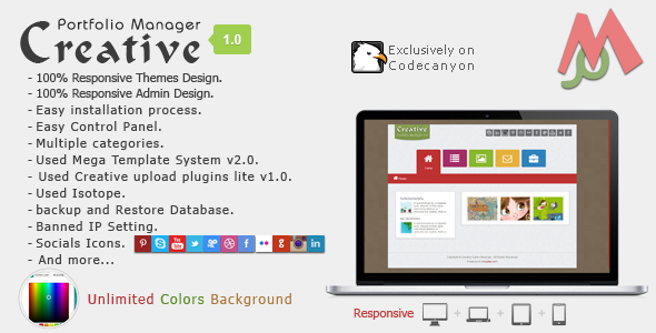 CodeCanyon Creative Portfolio Manager 7759585