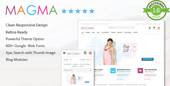 ThemeForest MAGMA Fashion Responsive PrestaShop Template 7792001