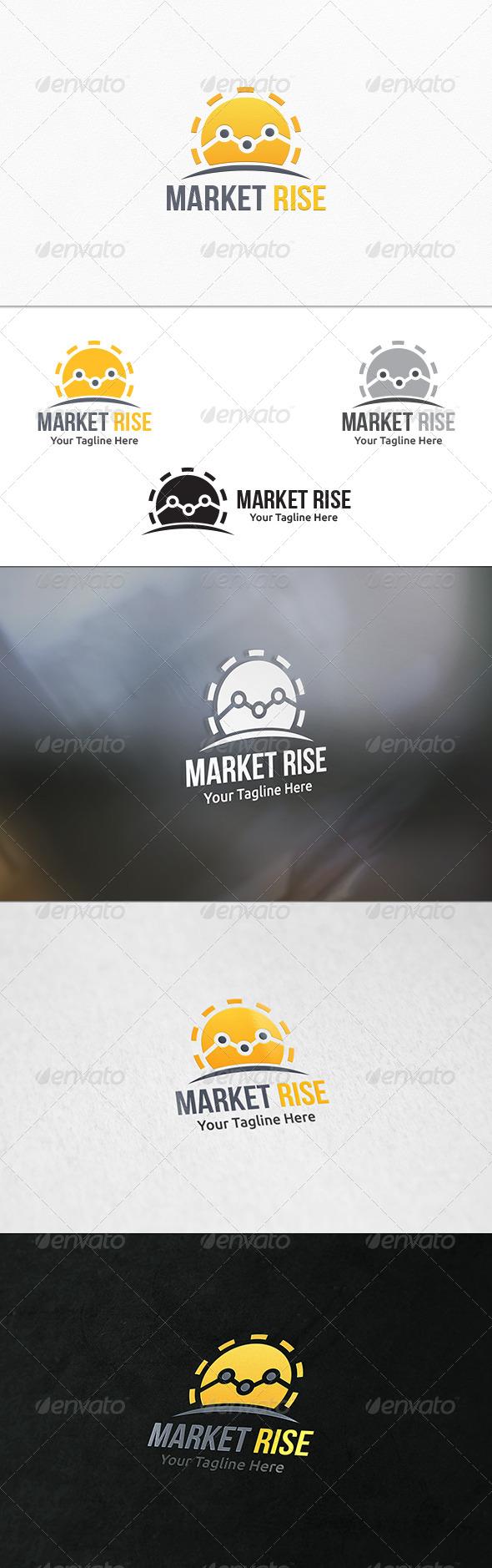 GraphicRiver Market Rise Logo Template 7807412