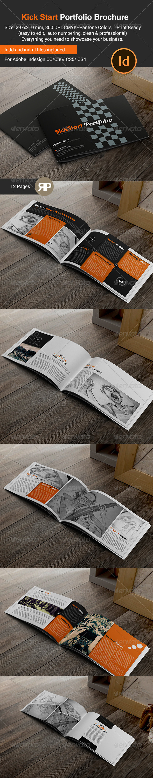 GraphicRiver New Way Portfolio Brochure Template 7807432