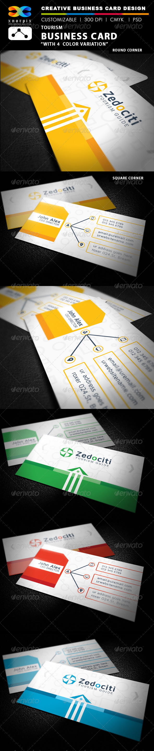 GraphicRiver Tourism Business Card 7807451