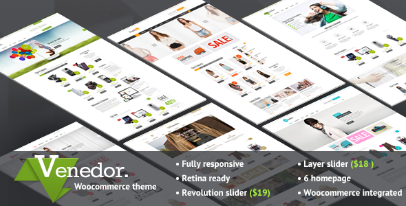 ThemeForest Venedor Ultimate Wordpress&WooCommerce Theme 7807674