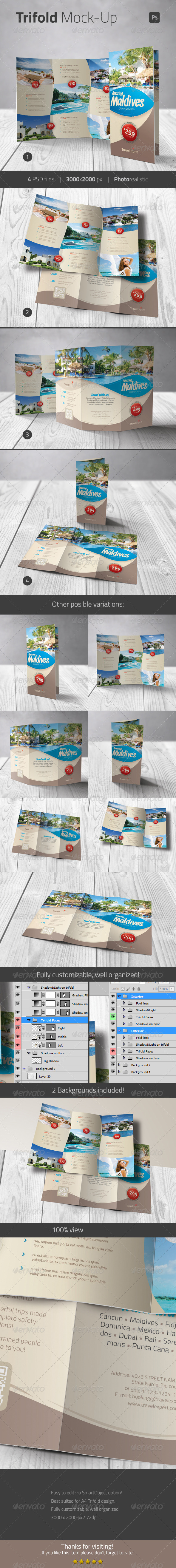 GraphicRiver Trifold Mock-up 7807684