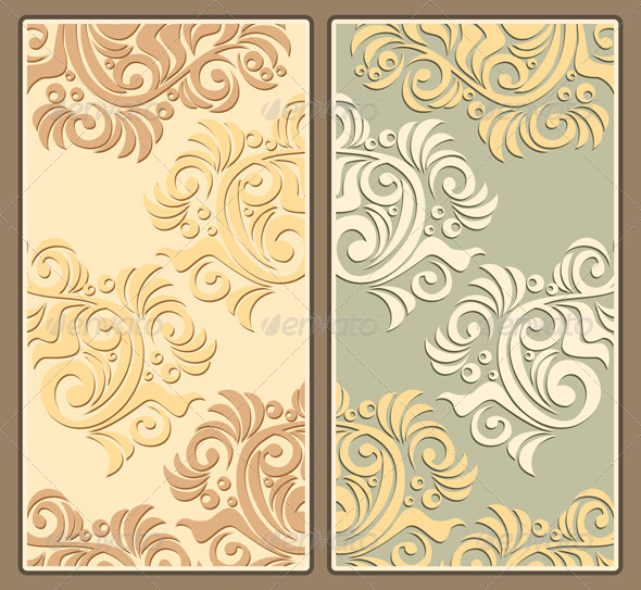 Two Decorative Pastel Backgrounds