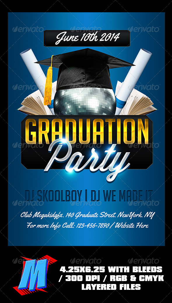 GraphicRiver Graduation Party Flyer Template 7807918