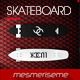 Longboard Skateboard Type 2 5 Scenes Mock-up - GraphicRiver Item for Sale