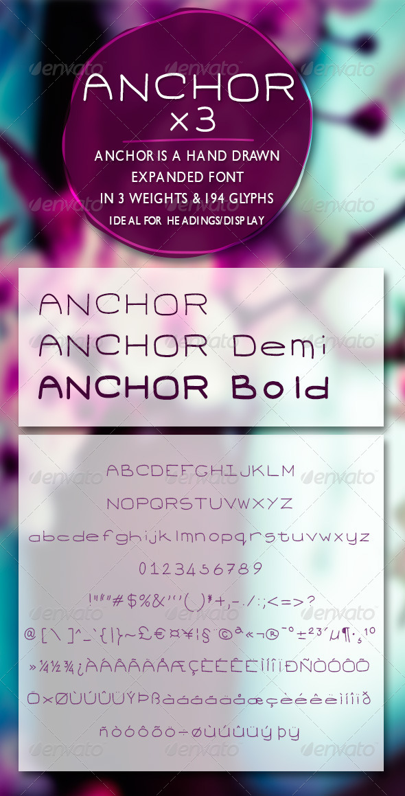 GraphicRiver Anchor Expanded Handrawn Font 7808050