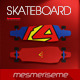 Downhill Longboard Skateboard 5 Scenes Mock-up - GraphicRiver Item for Sale