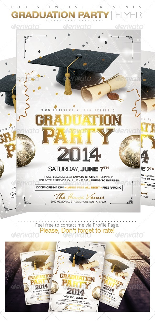 GraphicRiver Graduation Party Flyer Template 7793167