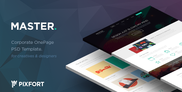 ThemeForest MASTER Corporate Onepage PSD Template 7808776