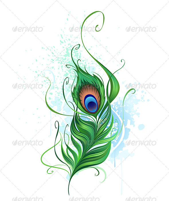 GraphicRiver Peacock feather 7808795