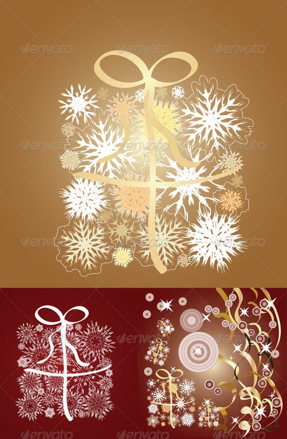 GraphicRiver Snowflake gift box 7808875
