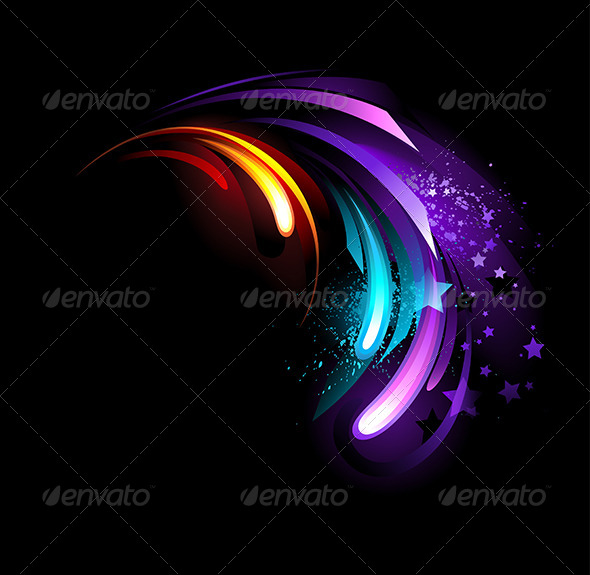 GraphicRiver Abstract Purple Crystal 7808971