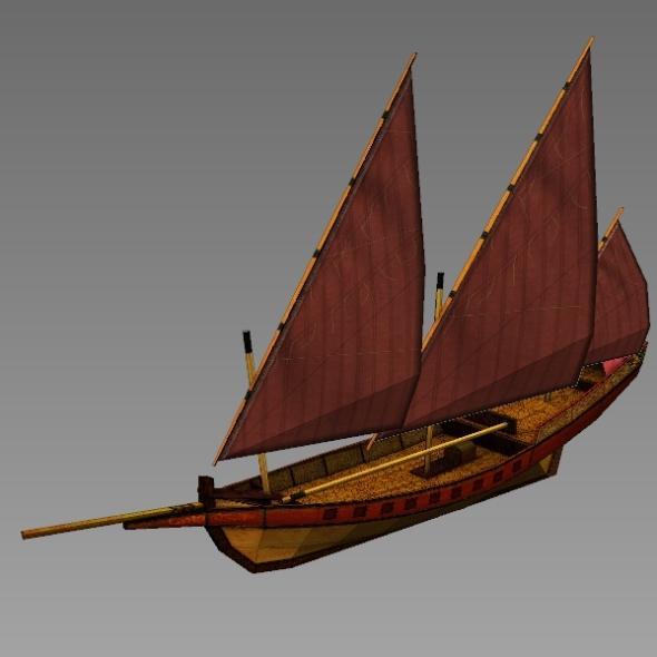 3DOcean Age of Sail Arabic Sail Ship 7809011