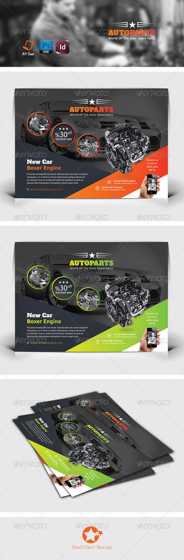 GraphicRiver Auto Service Flyer Templates 7809057
