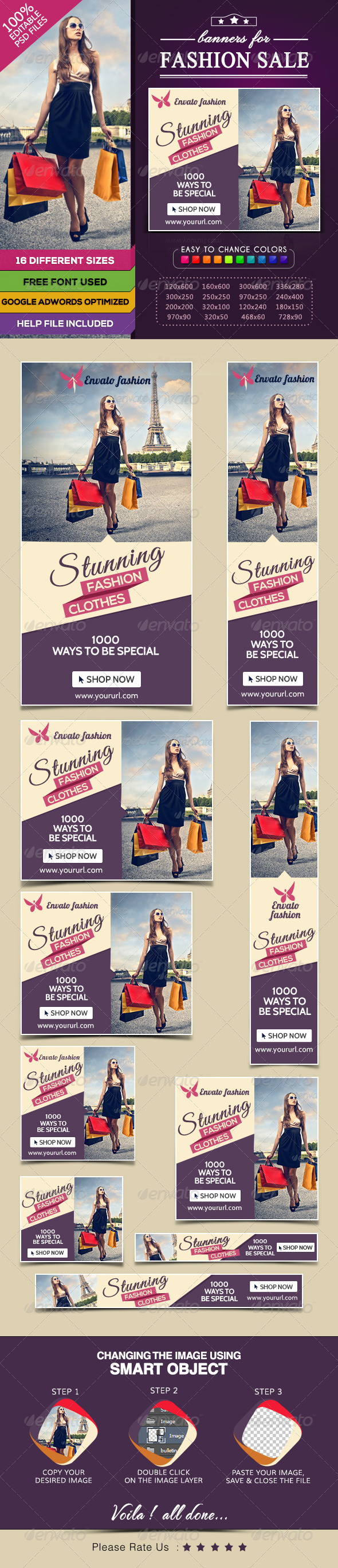 GraphicRiver Fashion Sale Banners 7809125