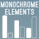 Monochrome Infographic Elements - GraphicRiver Item for Sale