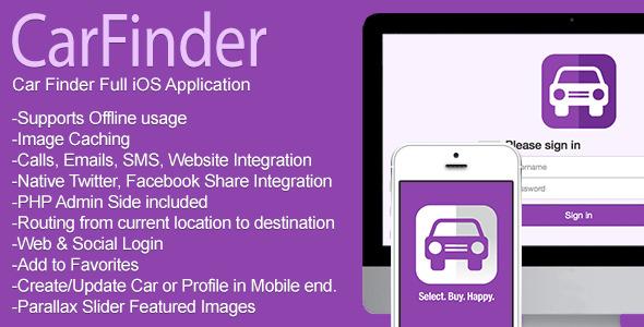 CodeCanyon Car Finder Full iOS Application 7741636