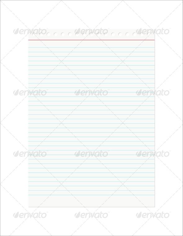 Retro Notebook Sheet